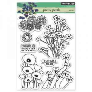 Penny Black Clear Stamps - Pretty Petals