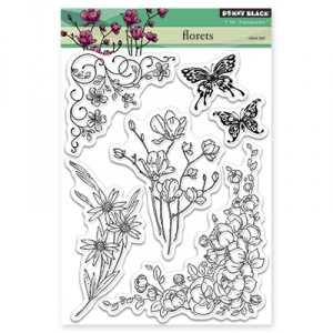Penny Black Clear Stamps - Florets