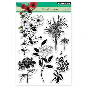 Penny Black Clear Stamps - Floral Fusion
