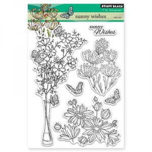 Penny Black Clear Stamps - Sunny Wishes