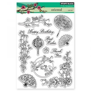Penny Black Clear Stamps - Oriental