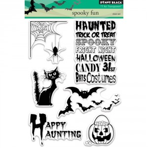 Penny Black Clear Stamps - Spooky Fun