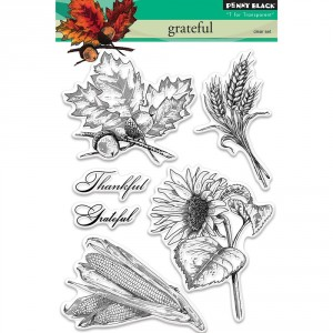 Penny Black Clear Stamps - Grateful