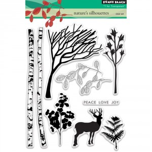 Penny Black Clear Stamps - Nature's Silhouettes