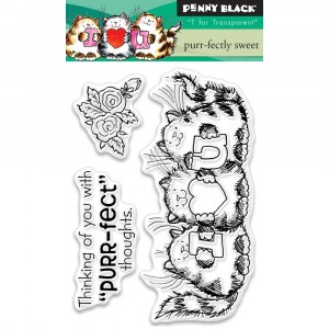 Penny Black Clear Stamps - Purr-Fectly Sweet