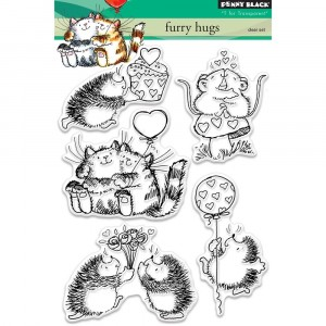 Penny Black Clear Stamps - Furry Hugs