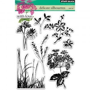 Penny Black Clear Stamps - Delicate Silhouettes
