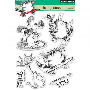 Penny Black Clear Stamps - Happy Times