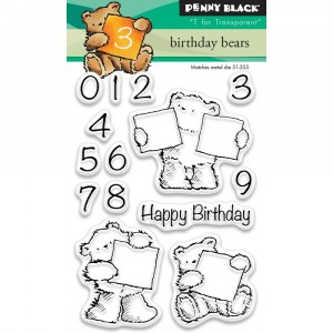 Penny Black Clear Stamps - Birthday Bears