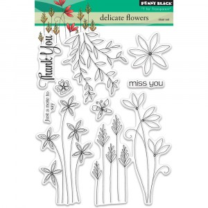 Penny Black Clear Stamps - Delicate Flowers