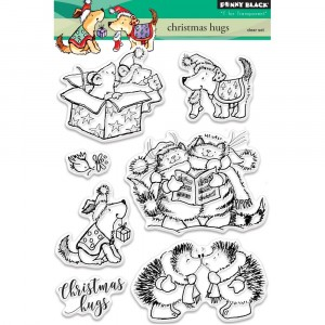 Penny Black Clear Stamps - Christmas Hugs