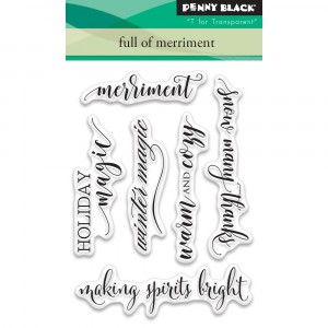 Penny Black Clear Stamps - Full Of Merriment - 25% RABATT