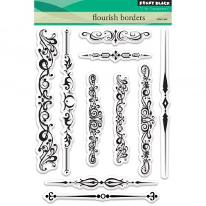 Penny Black Clear Stamps - Flourish Borders