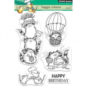 Penny Black Clear Stamps - Happy Critters