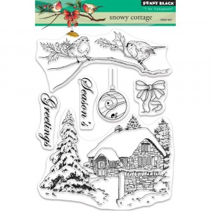 Penny Black Clear Stamps - Snowy Cottage