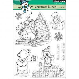 Penny Black Clear Stamps - Christmas Bunch