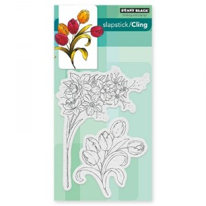 Penny Black Cling Stamps - Flower Gala