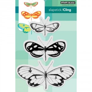 Penny Black Cling Stamps - Butterfly Trio