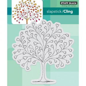 Penny Black Cling Stamps - Tree-Heart