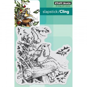 Penny Black Cling Stamps - Snowy Perch