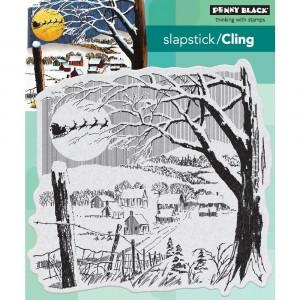 Penny Black Cling Stamps - Santas Visit