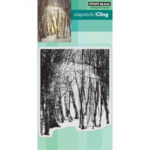Penny Black Cling Stamps - Winters Forest
