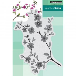 Penny Black Cling Stamps - Blissful Blossoms