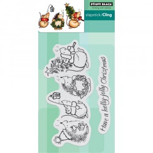 Penny Black Cling Stamps - Holly Jolly Critters