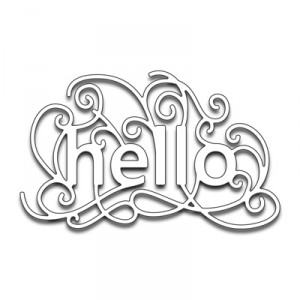 Penny Black Creative Dies Stanzschablone - Scroll Hello