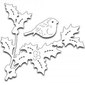Penny Black Creative Dies Stanzschablone - Bird Amidst Holly