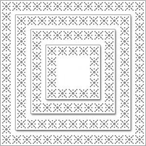 Penny Black Creative Dies Stanzschablone - Snowflake Stitch Frame