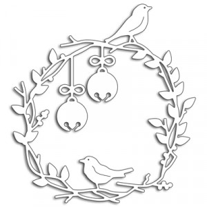 Penny Black Creative Dies Stanzschablone - Birds On A Wreath