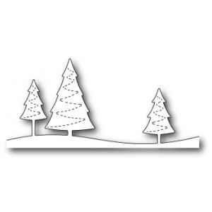 Poppy Stamps Stanzschablone - Stitched Evergreen Trees