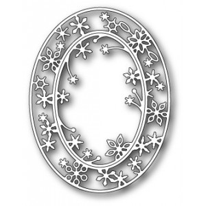 Poppy Stamps Stanzschablone - Snowflake Oval Frame