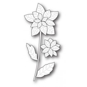 Poppy Stamps Stanzschablone - Poinsettia Stem