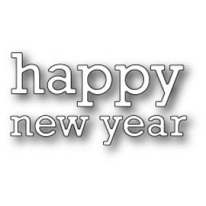 Poppy Stamps Stanzschablone - Proper Happy New Year