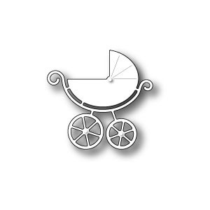 Poppy Stamps Stanzschablone - Sweet Baby Carriage