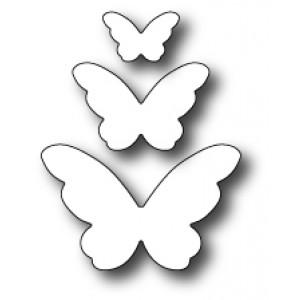Poppy Stamps Stanzschablone - Emelia Butterfly Trio