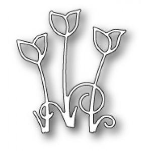 Poppy Stamps Stanzschablone - Crocus Trio