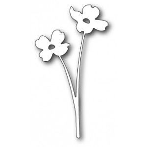 Poppy Stamps Stanzschablone - Delicate Dogwoods