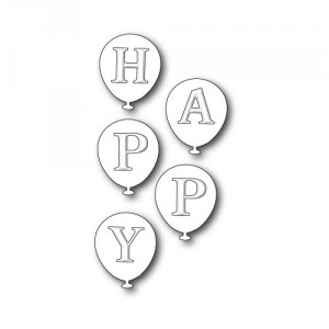 Poppy Stamps Stanzschablone - Happy Balloons