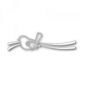 Poppy Stamps Stanzschablone - Swirly Bird Ribbon
