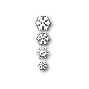 Poppy Stamps Stanzschablone - Frosty Snowflake Buttons