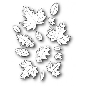 Poppy Stamps Stanzschablone - Fall Leaf Collage