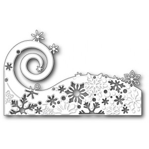 Poppy Stamps Stanzschablone - Snowflake Wave
