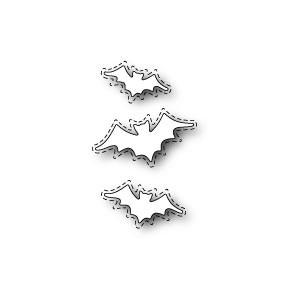 Poppy Stamps Stanzschablone - Stitched Batty Collage
