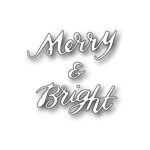 Poppy Stamps Stanzschablone - Merry and Bright Brushed - 35% RABATT