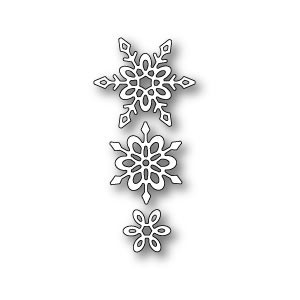 Poppy Stamps Stanzschablone - Madeleine Snowflakes