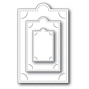 Poppy Stamps Stanzschablone - Tucked Corner Tags