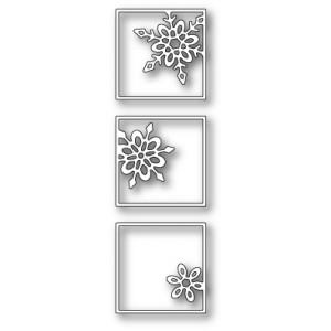 Poppy Stamps Stanzschablone - Snowflake Triptych